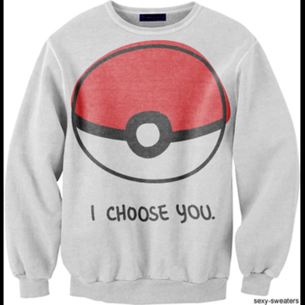 sweater pokemon clothes grey jumper