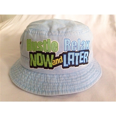 Hustle now bucket hat