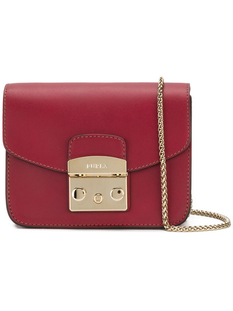 Furla mini women bag leather red