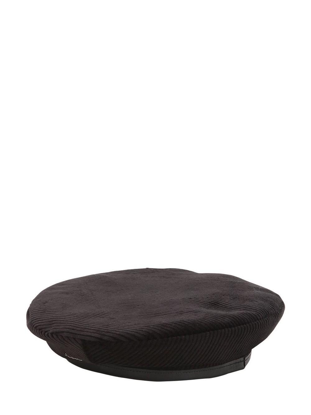 DON Corduroy Beret in black