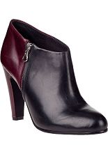 See by Chloé SB19043 Ankle Bootie Black/Wine Leather - Jildor Shoes, Since 1949