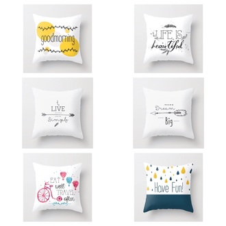 bag pillow quote on it home decor