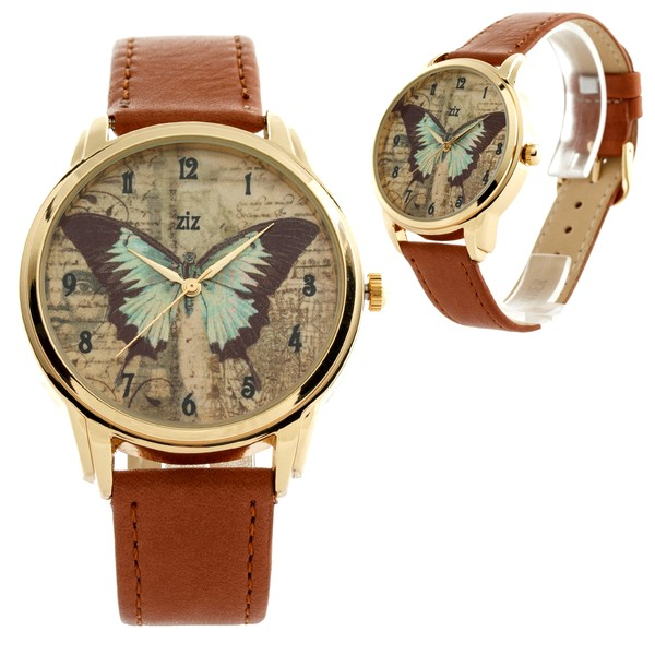 jewels ziziztime watch watch brown butterfly ziz watch