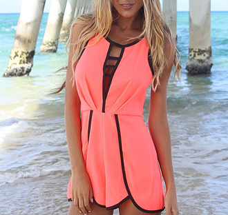 summer outfits jumpsuit romper hot pink dungaree thecarriediaries carrie