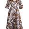 Karol open-shoulder duchess-satin dress