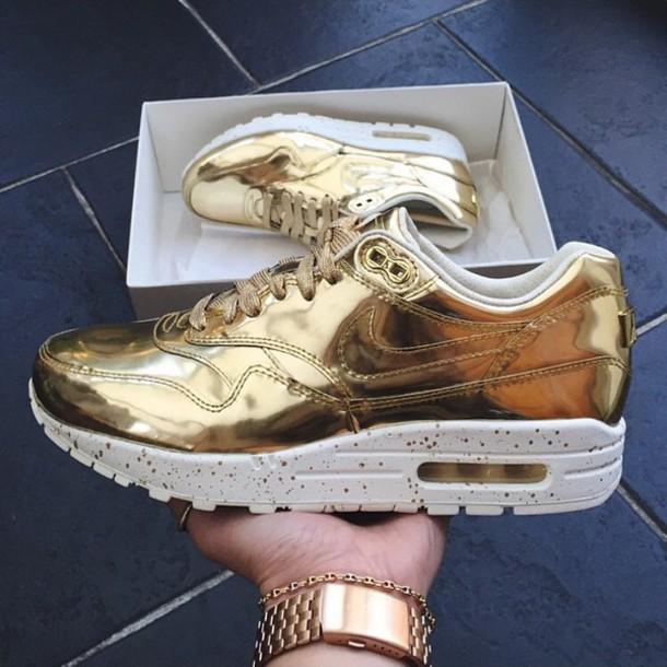 shoes nike gold nike gold