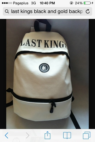 bag last kings white backpack