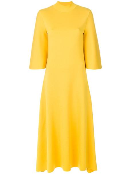 PRINGLE OF SCOTLAND dress long dress long women yellow orange