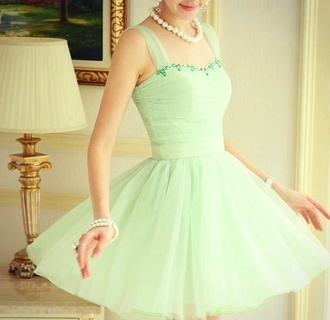 dress petticoat green dress light green