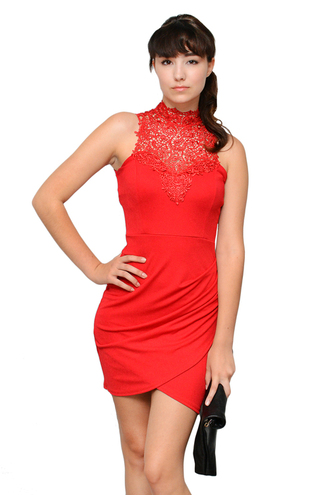 victoria trendy new shopsimplychic red dress red red lace dress lace dress lace hoco dress homecoming dress evening dress lace detailing lace neckline simplychic