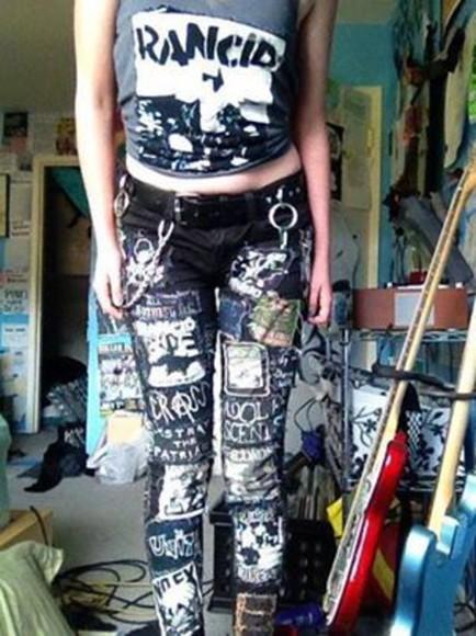punk goth edgy emo band merch chains lady punk rocky belt chain
