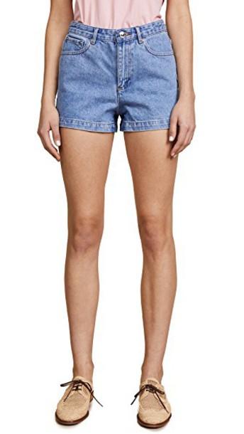 A.P.C. shorts denim shorts denim high