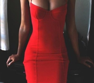 bustier dress dress red dress bodycon dress red