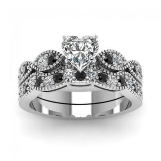 jewels heart shaped diamond ring set evolees.com diamonds engagement ring bridal ring set