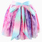 Rainbow tie dye printed skater skirt with back bow tie