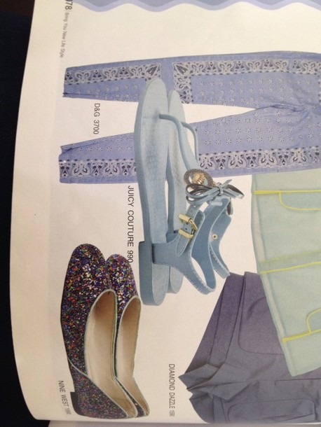 shoes blue,sandal,juicy couture