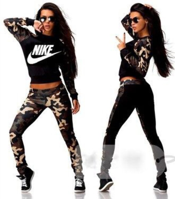 Swag Camouflage Outfits For Womens