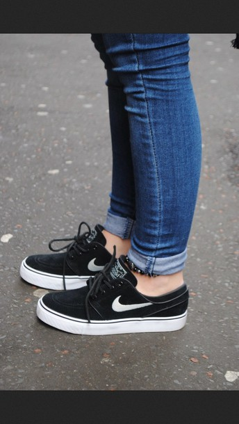 shoes nike nike shoes black black shoes women s nike sneakers nike sb sneakers  black and white 403043527