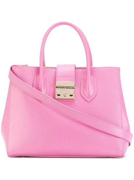 Furla - Metropolis tote - women - Calf Leather - One Size, Pink/Purple, Calf Leather