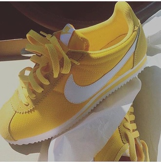 shoes yellow nike sneakers