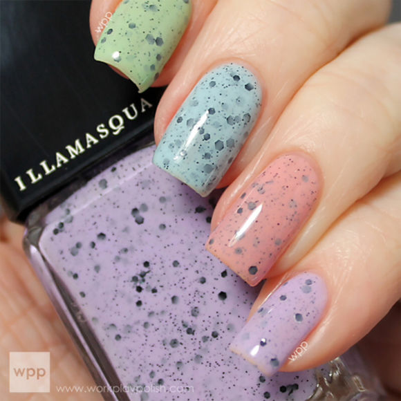 nail polish nail blue pink black polish green purple peach dots