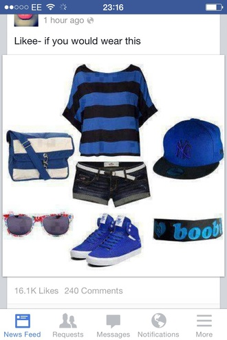 top blue shirt royal blue summer top striped shirt girls shirt swag top streetwear style streetstyle batwing