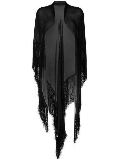 women scarf black silk