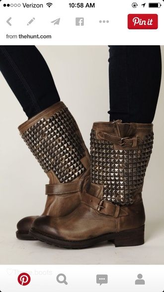 shoes studded shoes rocker chic edgy