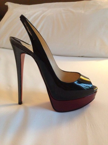 shoes christian louboutin black and red pumps pumps , red, black
