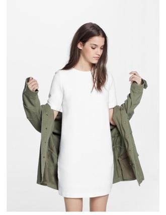 dress white love white dress spring outfits minimalist jacket