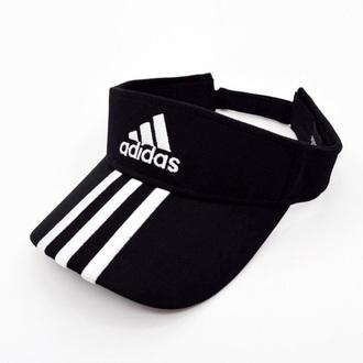 hat adidas black sportswear black and white sporty fashion style summer cool boogzel