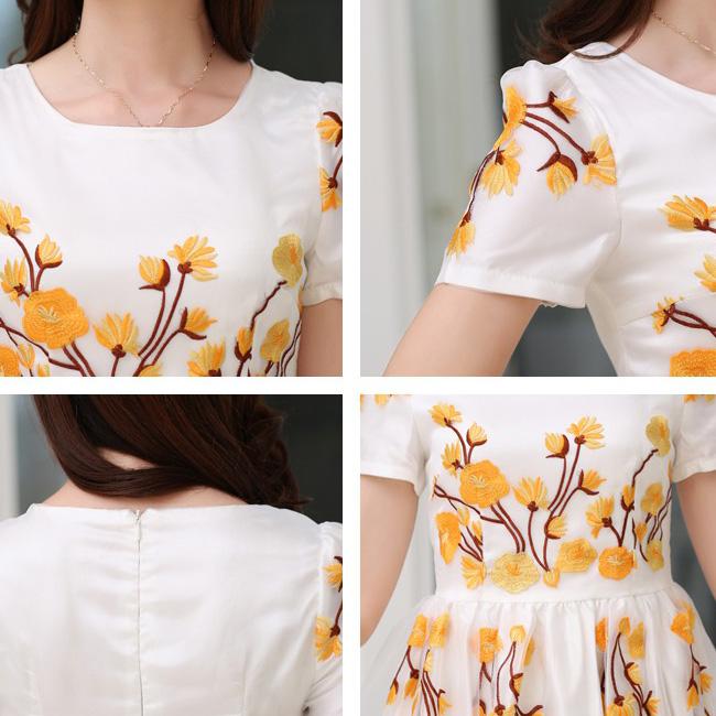 Length dress women summer spring casual dress