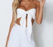 shirt,white bow tie crop top