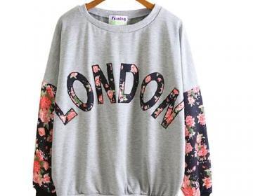 British style london floral print s..