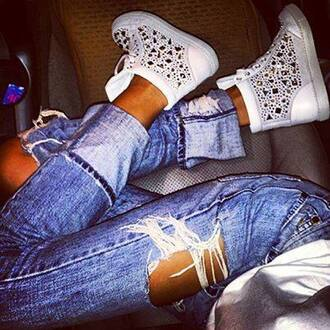 jeans shoes white white shoes wedge sneakers spring shoes designs designer shoes summer spring fashion fashion shoes summer shoes