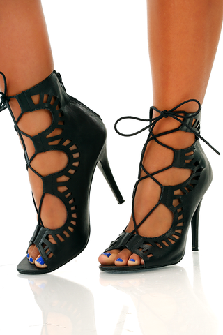 Where we come from heels: black