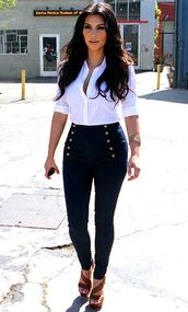 jeans,shoes,shirt,pants,coat,denim,high waisted jeans,kim kardashian