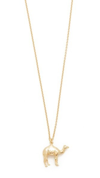 necklace gold camel jewels