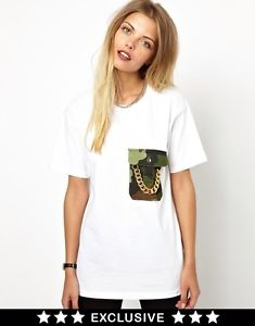 ASOS Exklusiv Poorboy vintage reworked Camo Chain Pocket Tee T-Shirt T shirt | eBay