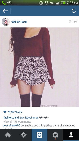 red sweater blouse