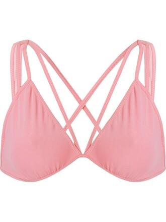 bra women spandex purple pink underwear