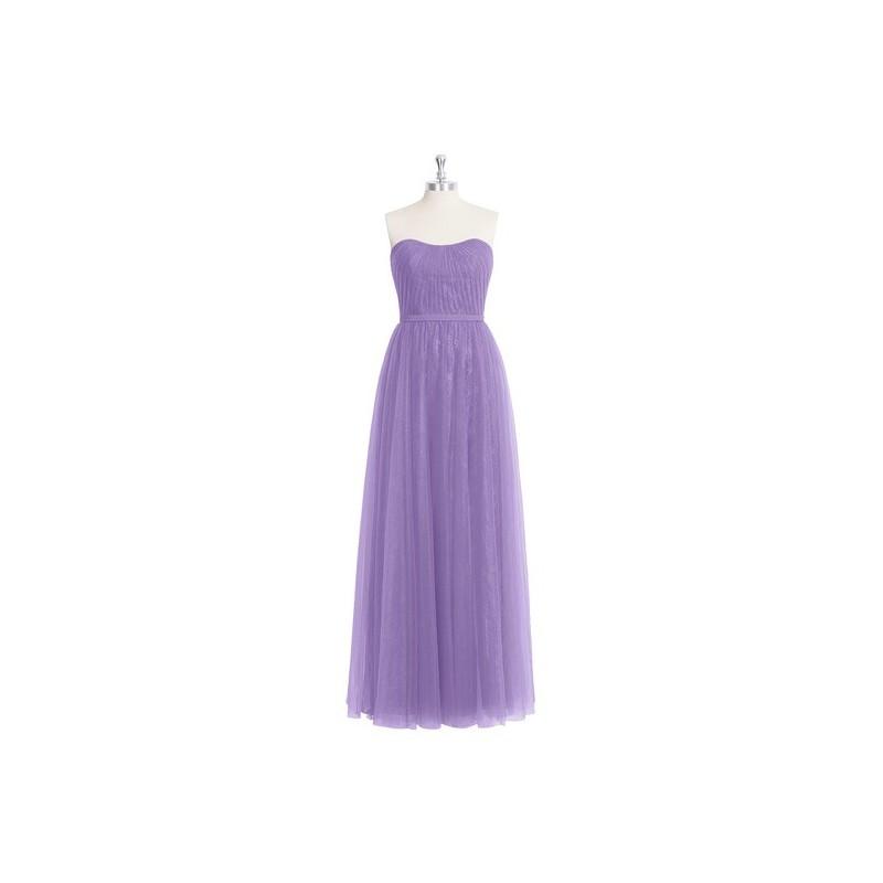 Tahiti Azazie Kayley - Tulle, Lace And Chiffon Floor Length Sweetheart Back Zip Dress - Charming Bridesmaids Store