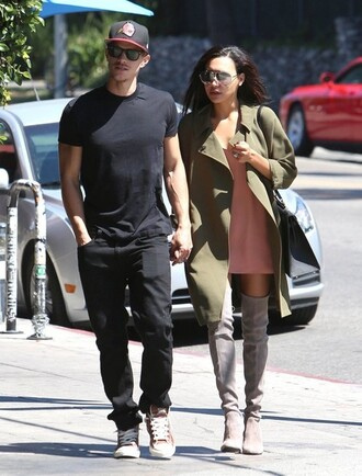 coat boots naya rivera shoes dress