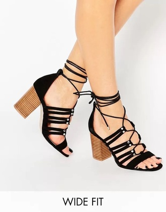 shoes heels black strappy heels