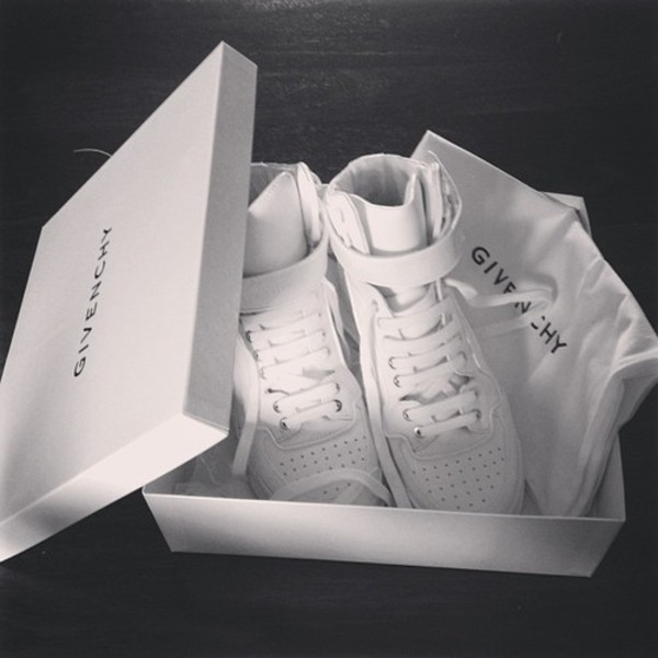 givenchy paris stingray leather optic white high top