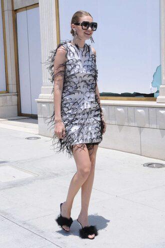 dress mini dress mules sunglasses gigi hadid model black and white dress