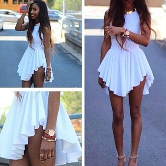 white dress instagram high low dress