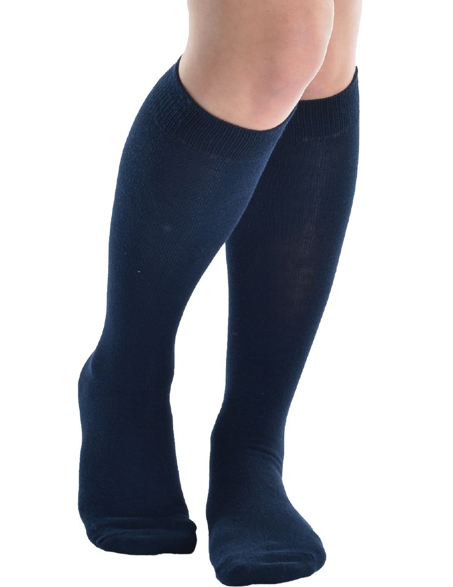 Ladies Navy Knee High Socks