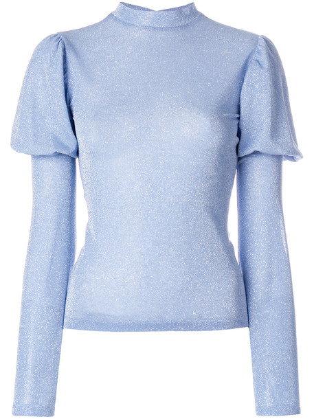 top women spandex blue