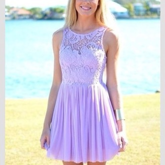 dress pretty lace dress purple dress